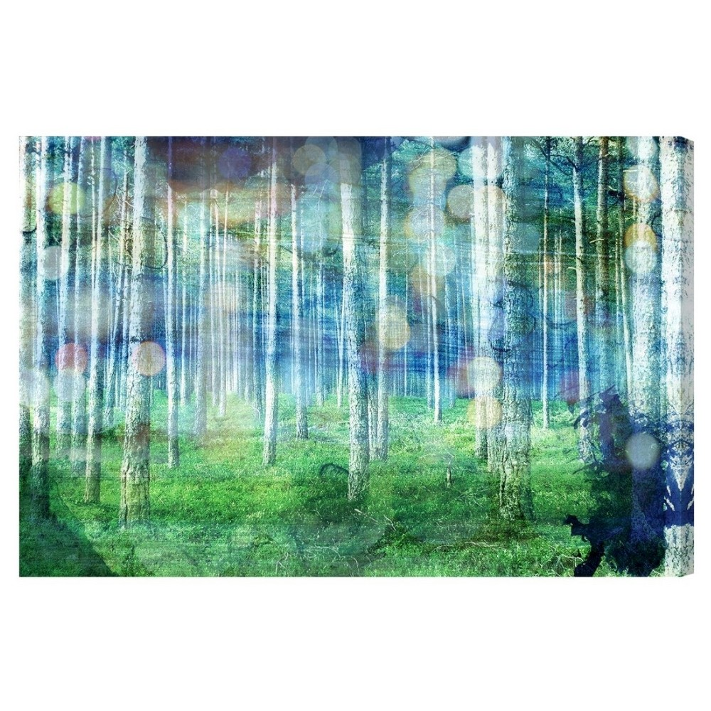 "Image of ""Oliver Gal Unframed Wall """"Beautiful Escape"""" Canvas Art (24x16), Multi-Colored"""
