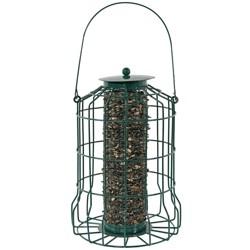 """Sunnydaze Decor Hanging Metal Wire Wild Bird Feeder - Green - 10"""""""