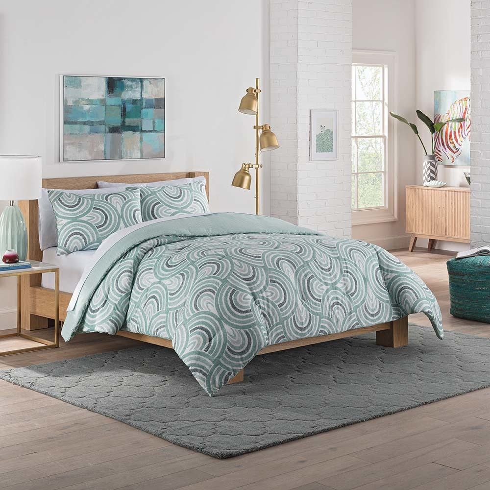 Sage Frenchy Reversible Comforter Set (Twin XL) 2pc - Vue, Brown