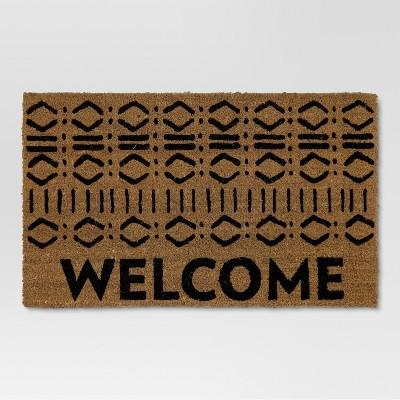 Natural Typography Doormat - (1'6 X2'8 )- Threshold™