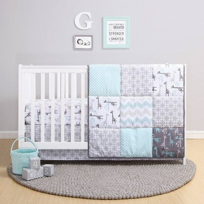 The Peanutshell Addison Crib Bedding Set - 3pc