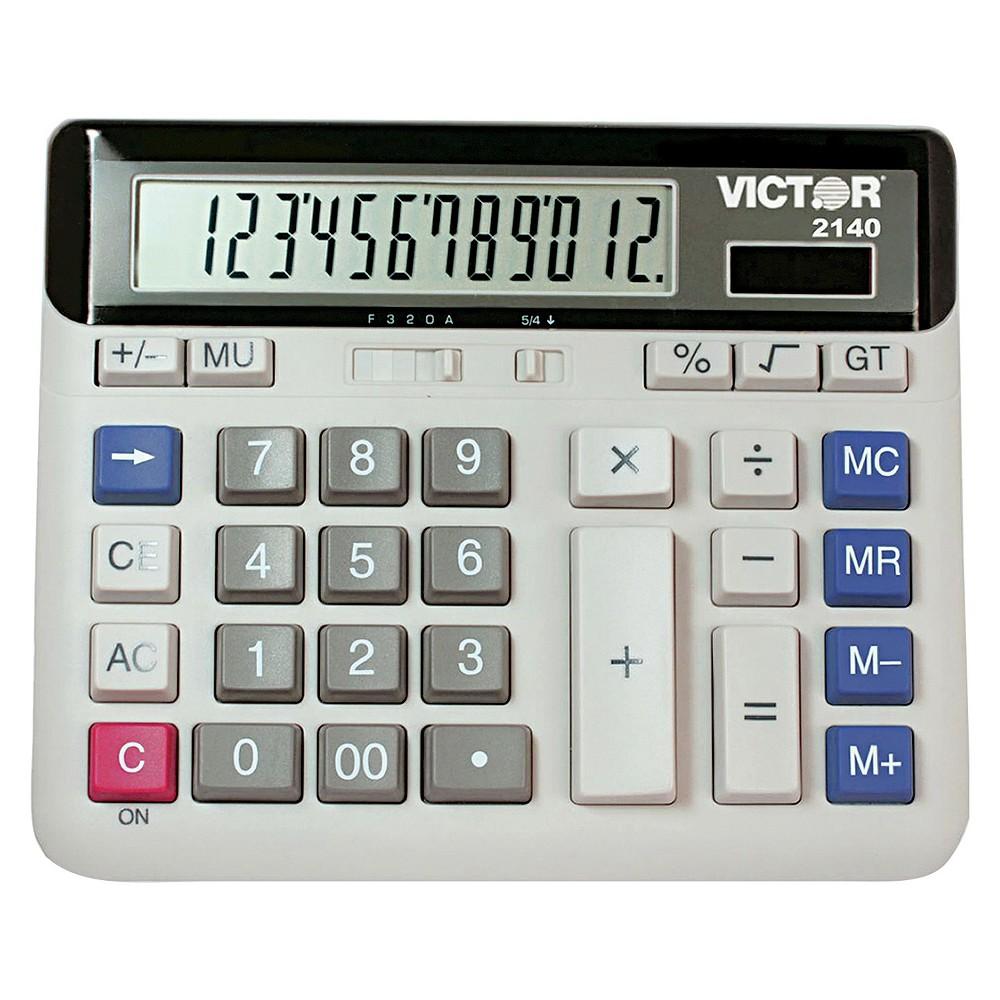 Victor Battery - Powered Basic Calculator - Gray