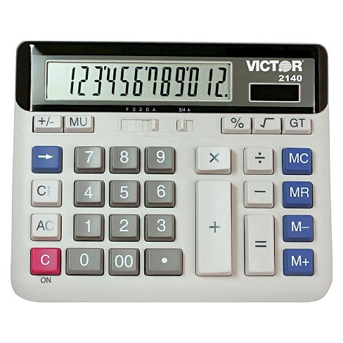 Victor Battery - Powered Basic Calculator - Gray - image 1 of 1