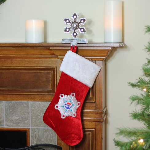 Embroidered Christmas Stockings.Northlight 19 25 Decorative Pepsi Snowflake Embroidered Christmas Stocking
