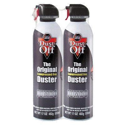 Dust - Off Disposable Compressed Gas Duster - 17 oz Cans - 2/Pack