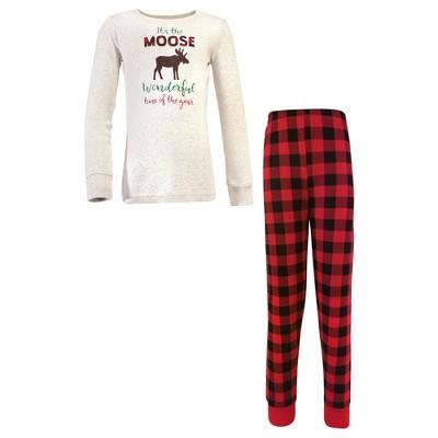 Hudson Baby Infant, Toddler and Kids Unisex Holiday Pajamas, Moose Wonderful Time Kids