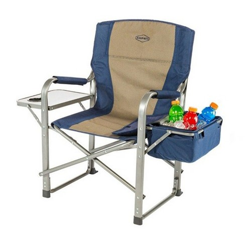 Kamp Rite Folding Camping Director S Chairs With Side Tables And Built In Cooler Target