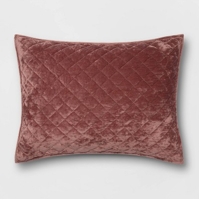Diamond Stitch Velvet Pillow Sham   Threshold™ by Shop Collections