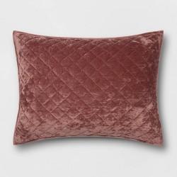 Diamond Stitch Velvet Pillow Sham - Threshold™