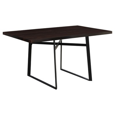 Dining Table - Cappuccino, Black Metal - EveryRoom
