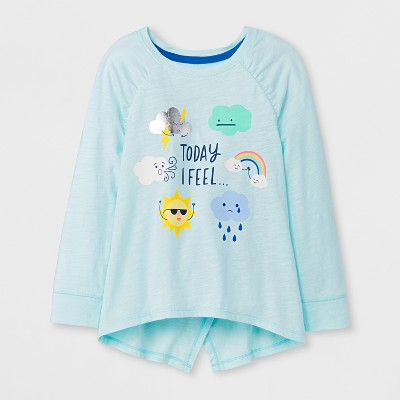 Toddler Girls' Pullover sweaters - Cat & Jack™ Bleached Aqua 2T