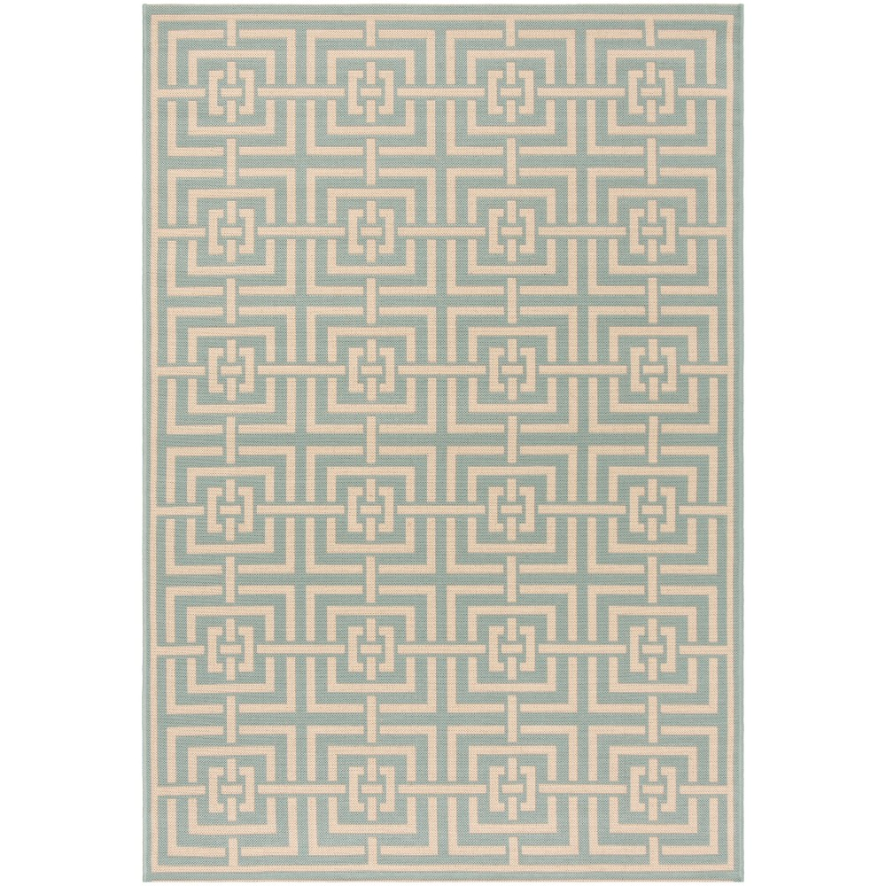 9'X12' Geometric Loomed Area Rug Aqua/Cream (Blue/Ivory) - Safavieh
