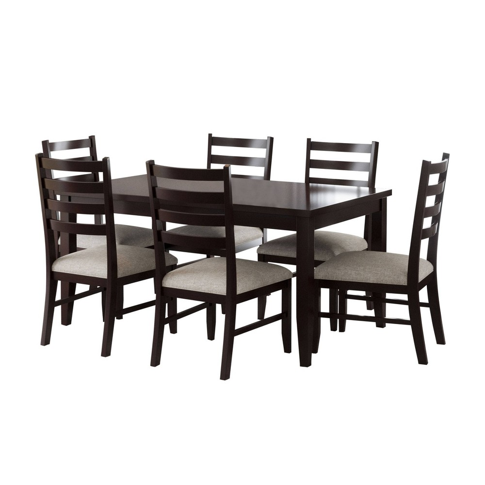 Image of 7pc Zoe Dining Set Natural - Abbyson Living