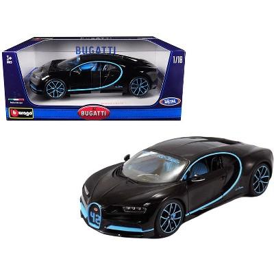 Bugatti Chiron 42 Black Limited Edition 1/18 Diecast Model Car by Bburago