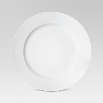 Round Porcelain Dinner Plate White 10.6 x10.6  - Threshold™