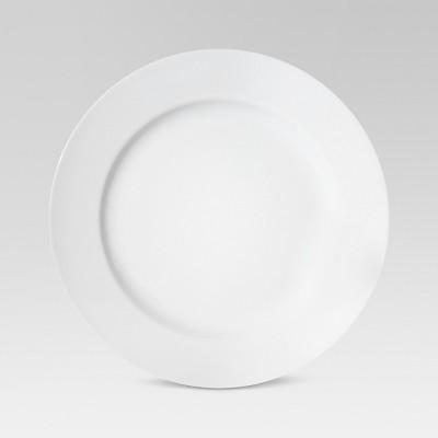 """10"""" Porcelain Dinner Plate White - Threshold™"""
