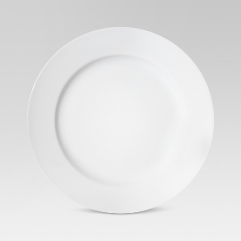 "11"" Porcelain Rimmed Dinner Plate White - Threshold™ - image 1 of 1"