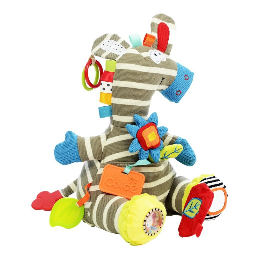Image of Dolce Activity Zebra Stuffed Animal And Plush Toy