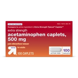 Acetaminophen Extra Strength Pain Reliever & Fever Reducer Caplets - Up&Up™