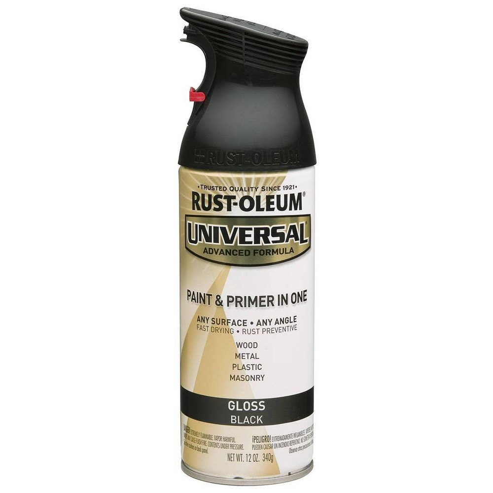 Rust Oleum 12oz Universal Gloss Spray Paint Black
