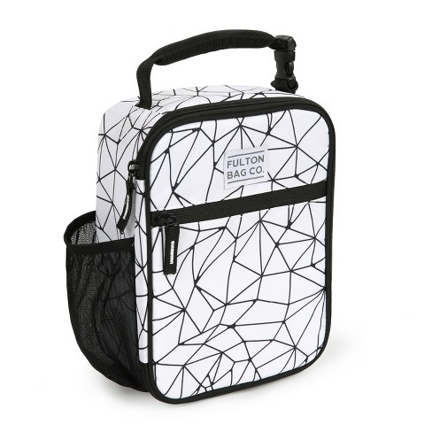 Upright Lunch Bag White Geo Target