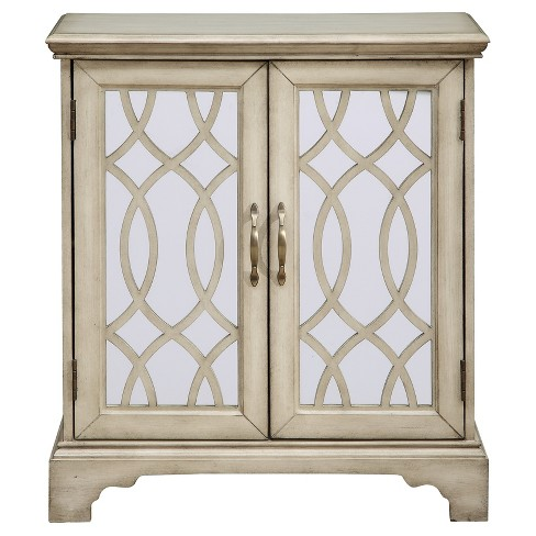 Downing Two Door Cabinet - Cream - Treasure Trove - image 1 of 5