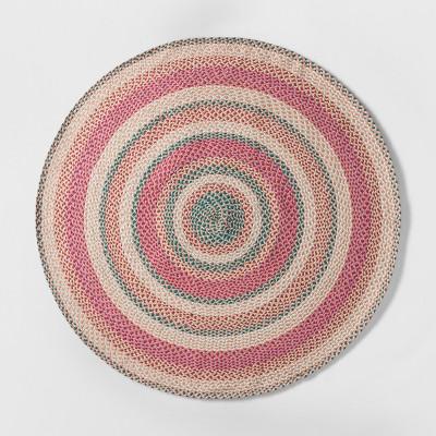 54 x54  Braided Circle Area Rug Pink - Pillowfort™
