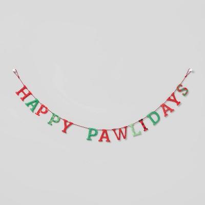 6ft Happy Pawlidays Garland Red/Green - Wondershop™