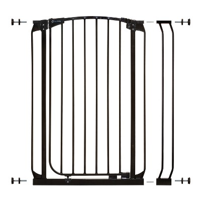 Dreambaby L796B Chelsea 28 to 35.5 Inch Auto-Close Baby & Pet Wall to Wall Safety Gate with Stay Open Feature for Doors, Stairs, and Hallways, Black