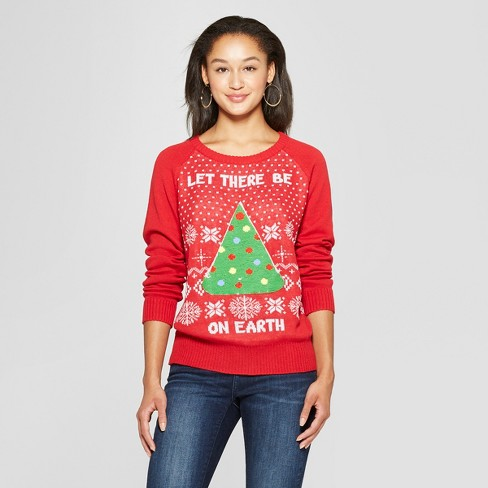 Womens Let There Be Pizza Reversible Ugly Sweater Well Worn