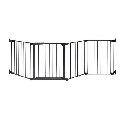 "KidCo Auto Close Configure Baby Gate with One 24"" Extension (Total width up to 104"") - Black"