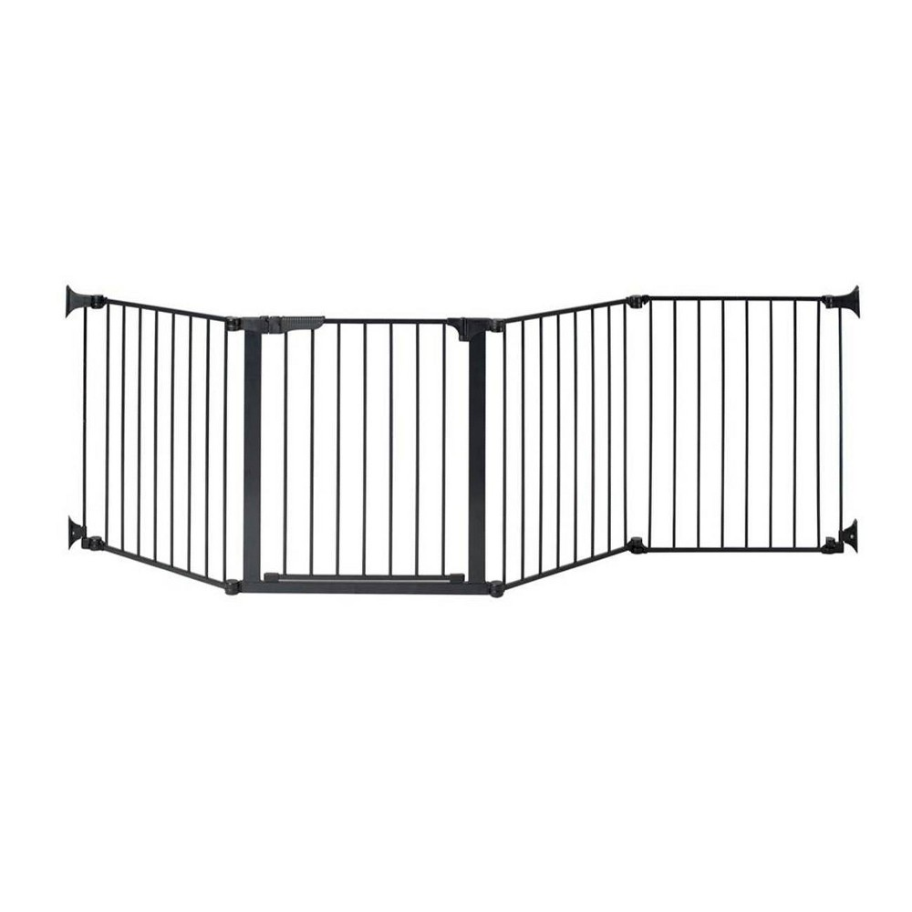 "Image of ""KidCo Auto Close Configure Baby Gate with One 24"""" Extension (Total width up to 104"""") - Black"""
