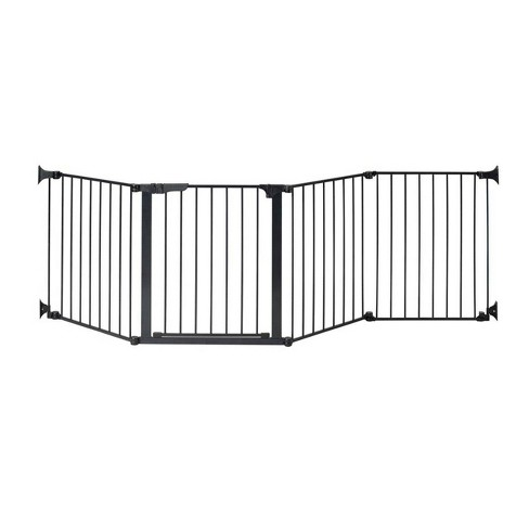 "KidCo Auto Close Configure Baby Gate with One 24"" Extension (Total width up to 104"") - Black - image 1 of 4"