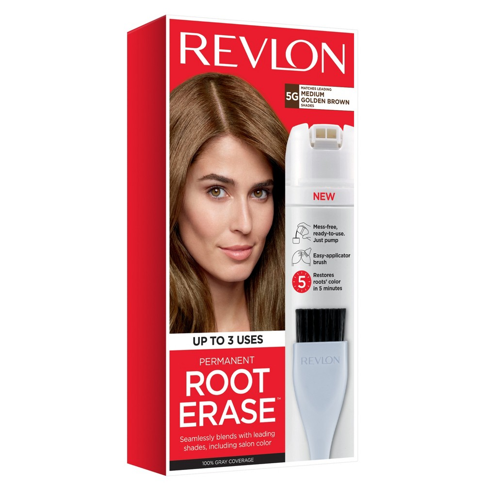 Image of Revlon Permanent Root Erase Roots Touch Up Hair Color Root Touch Up - Medium Golden Brown - 3.2 fl oz