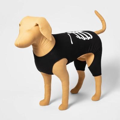 Halloween Skeleton Dog and Cat Matching Family Pajamas - Black