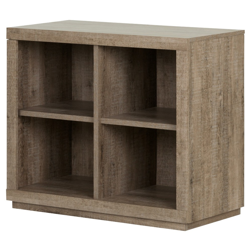 "Image of ""29.75"""" Kanji 4 Cube Shelving Unit Weathered Oak - South Shore"""