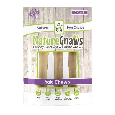 Nature Gnaws Large Yak Cheese Dog Treats - 3ct