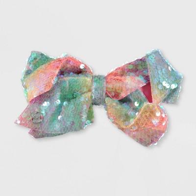 Girls' JoJo Siwa Rainbow Sequin Bow Hair Clip