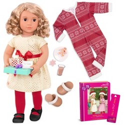 Our Generation Deluxe Christmas Doll With Book - Noelle
