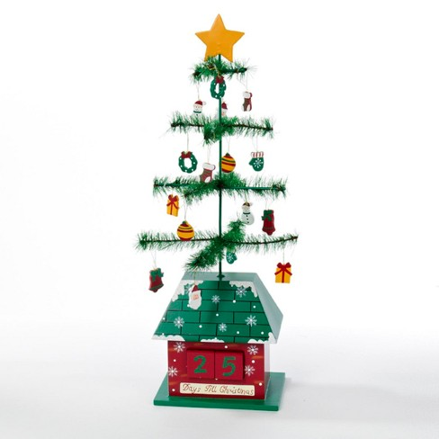 Kurt Adler 17†Green and Red Christmas Tree with Ornaments