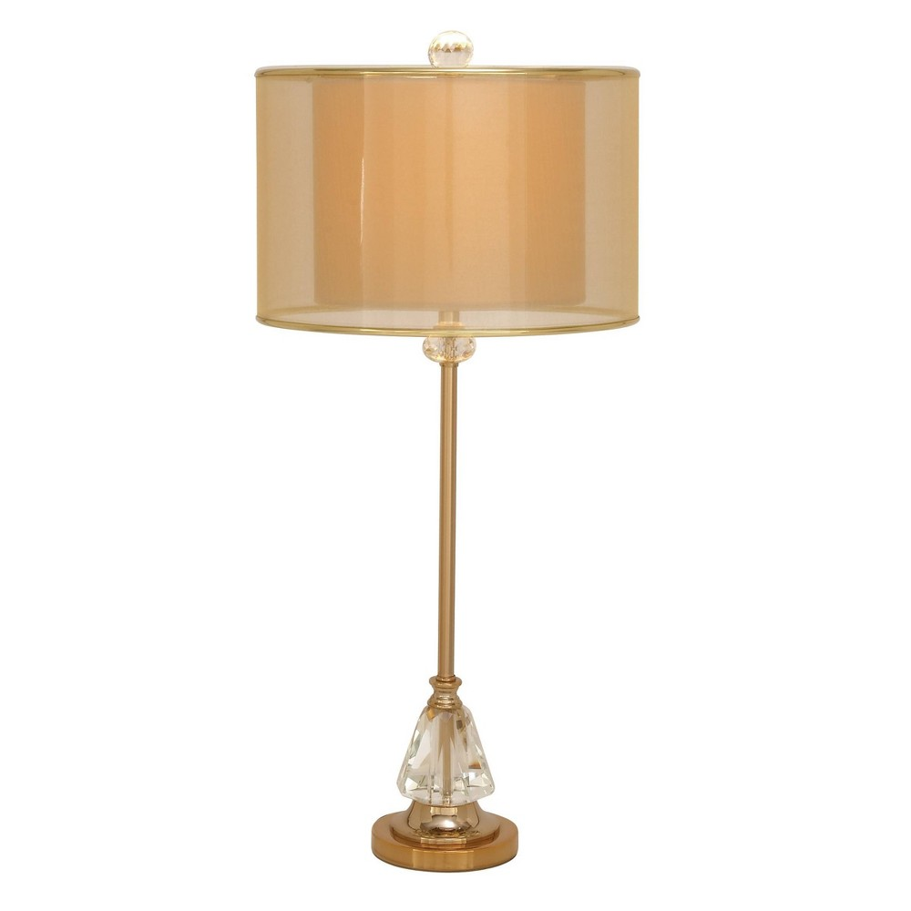 31 34 X 14 34 Glam Sophisticated Crystal And Iron Table Lamp Olivia 38 May