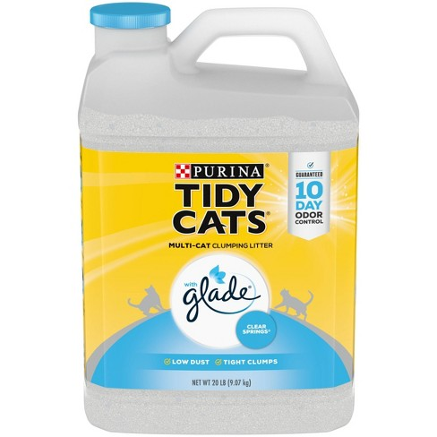Purina Tidy Cats Clumping Cat Litter with Glade Tough Odor Solutions for Multiple Cats - 20lb. Jug - image 1 of 4