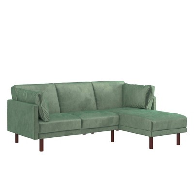 Debbie Coil Sectional Futon Teal - Room & Joy