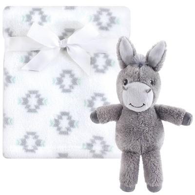 Hudson Baby Unisex Baby Plush Blanket with Toy - Snuggly Donkey