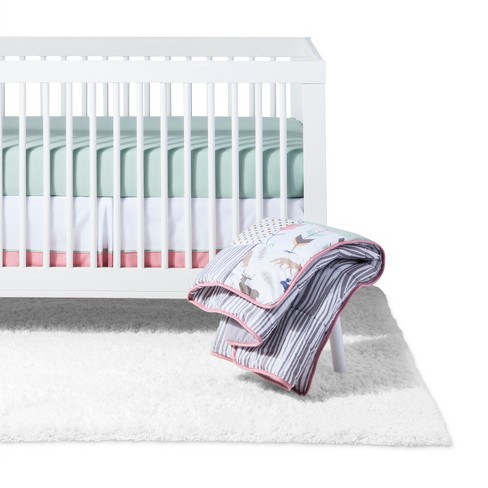 Sweet Jojo Designs Crib Bedding Set C Mint Woodsy 11pc