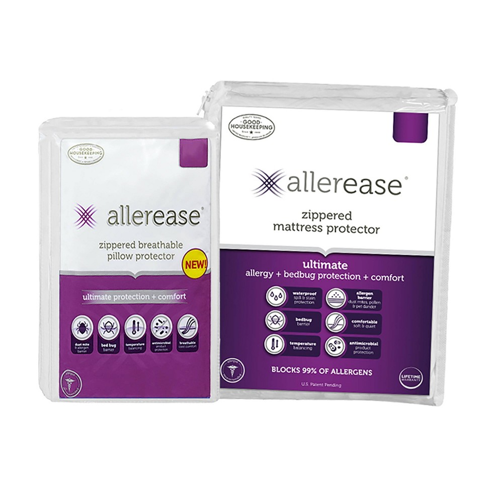 Twin Ultimate Mattress Cover With Pillow Cover Allerease