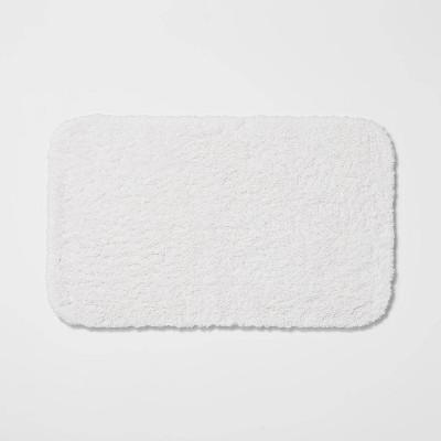 "20""x34"" Perfectly Soft Nylon Solid Bath Rug White - Opalhouse™"