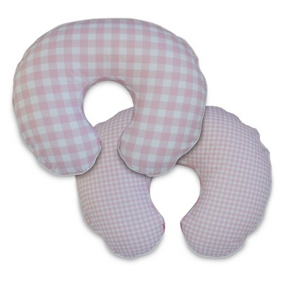 Boppy Nursing Pillow Slipcover - Pink Plaid
