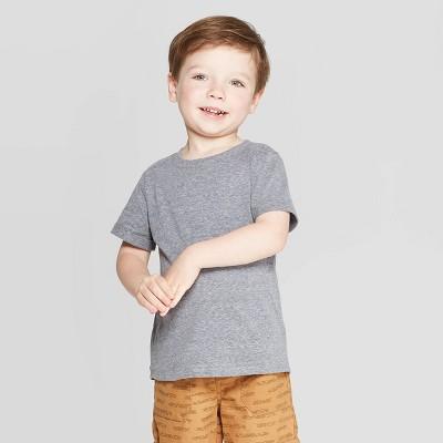 Toddler Boys' Snow Jersey Roll Cuff T-Shirt - Cat & Jack™ Gray 3T