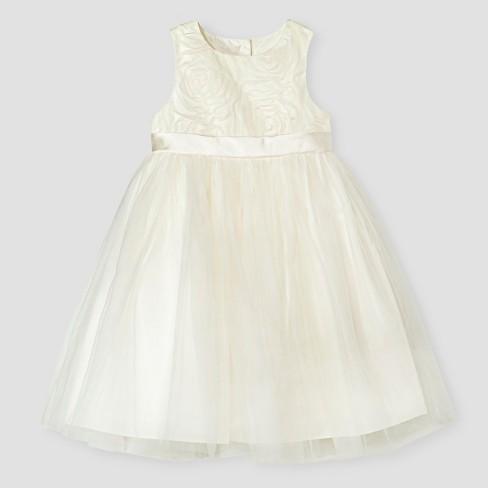 Toddler girls ballerina flower girl dress tevolio ivory target mightylinksfo